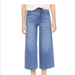 Madewell Wide Leg Crop Denim Jean Size 24